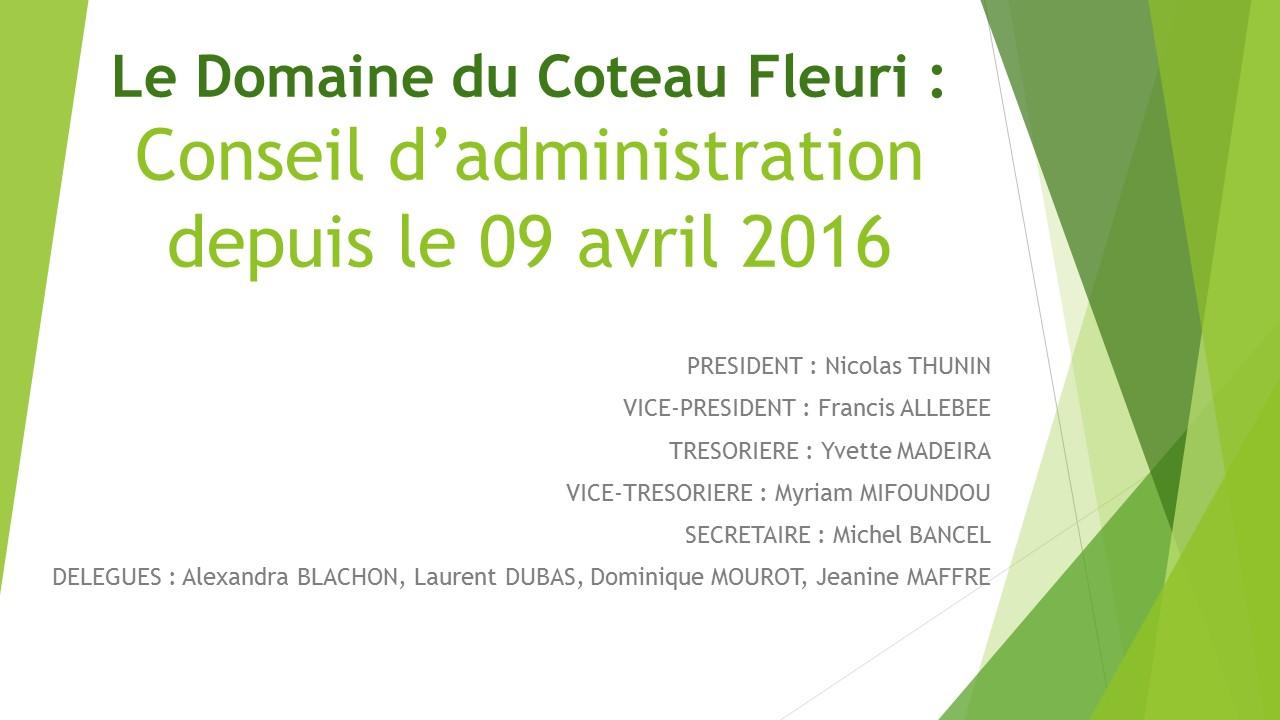 CA 9Avril2016 Le Domaine du Coteau Fleuri
